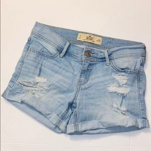 Hollister Size Distressed Midi Jean Short